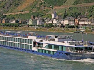 Avalon Affinity; Rhine River; Germany; River Cruise; River Cruising; exterior; town; architecture; vineyards; Sky Deck